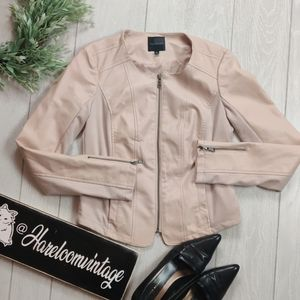 The Limited blush pink  strech Moto jacket blazer